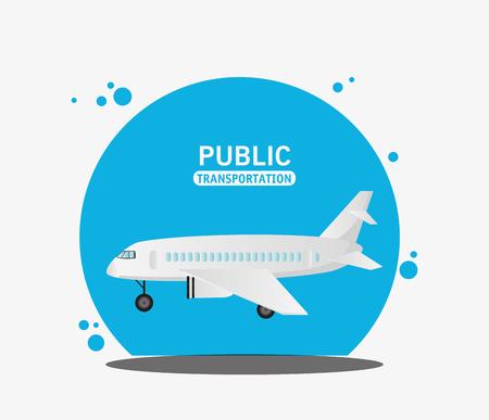 air craft fly public transport vector illustration eps 10