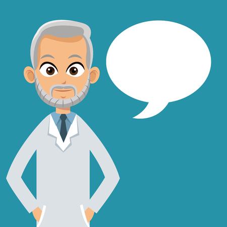 doctor professional bubble speech vector illustration eps 10