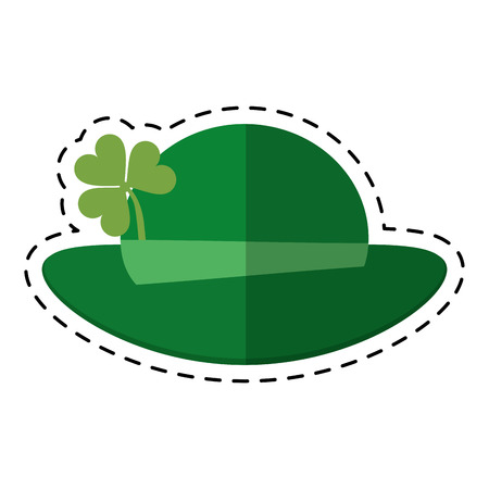 cartoon st patricks day leprechaun hat clover vector illustration eps 10 Illustration