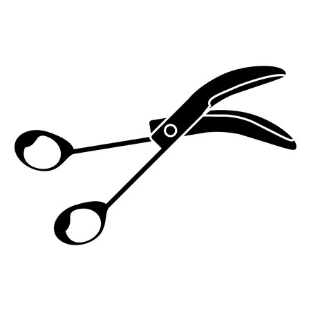 scissors surgery tool icon pictogram vector illustration