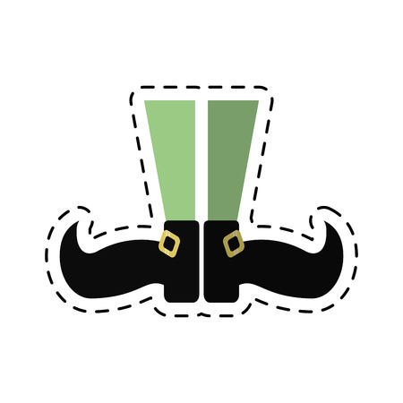cartoon st patricks day leprechaun legs vector illustration