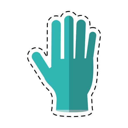 surgical glove: cartoon surgery glove clean medical vector illustration Illustration