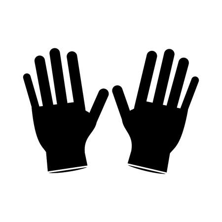 coroner: surgery glove clean medical pictogram vector illustration