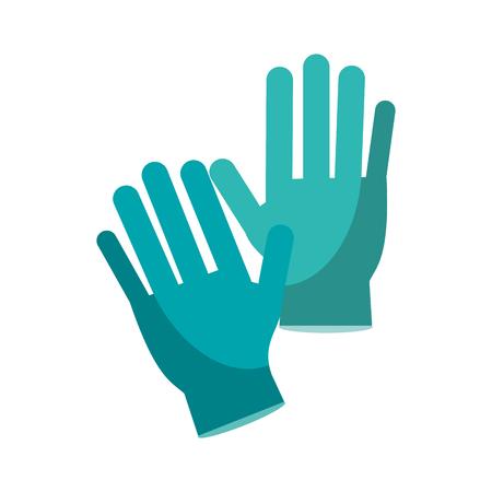 medical gloves: surgery glove medical protective vector illustration Illustration