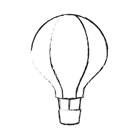 ballooning: hot air balloon icon over white background. vector illustration
