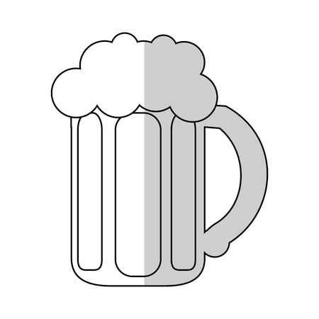 jarra de cerveza: beer jar icon over white background. vector illustration Vectores