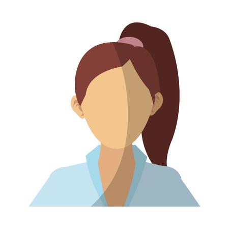 businesswoman cartoon icon over white background. colorful design. vector illustration Illustration