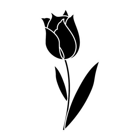 Belleza tulipán flora naturaleza pictograma