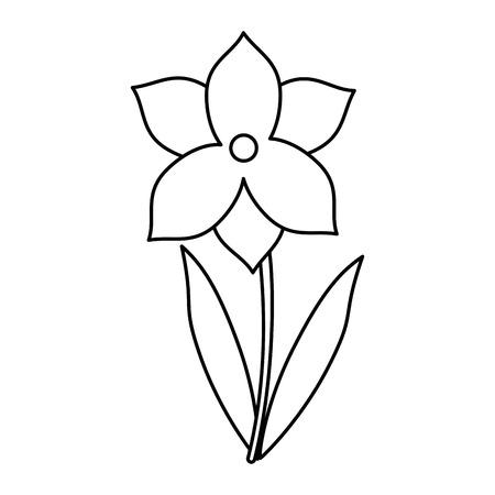 treelike: narcissus flower spring season thin line