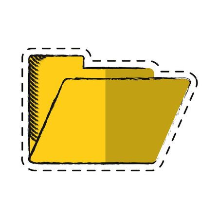 cartoon folder file document archive icon Illustration