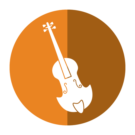 fiddle classical music instrument shadow Illustration