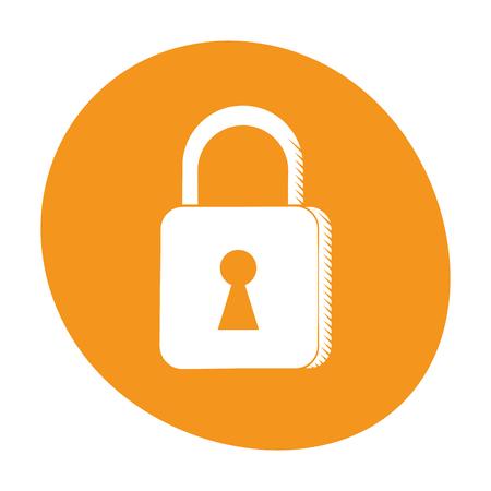 padlock security system technology image Illustration