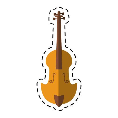 cartoon fiddle classical music instrument