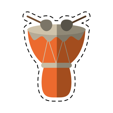 djembe drum: cartoon drum djembe percussion african
