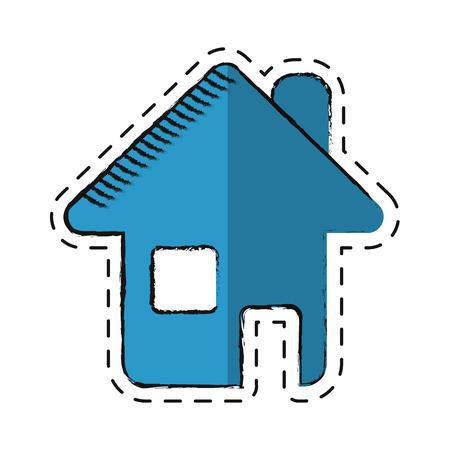 home page: cartoon home page web symbol