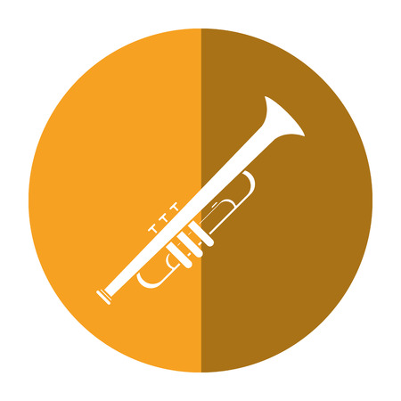 trumpet musician instrument icon shadow