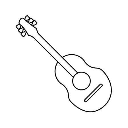 guitar traditional acoustic music thin line