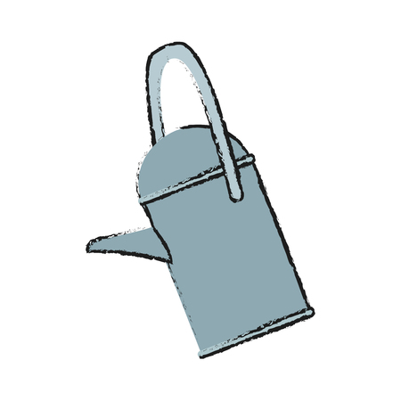 watering can icon over white background. vector illustration
