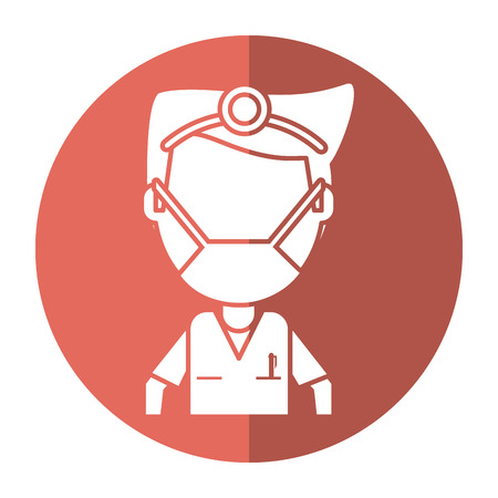 doctor specialist mask medical shadow vector illustration eps 10