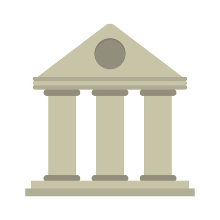 roman column: university building style temple vector illustration