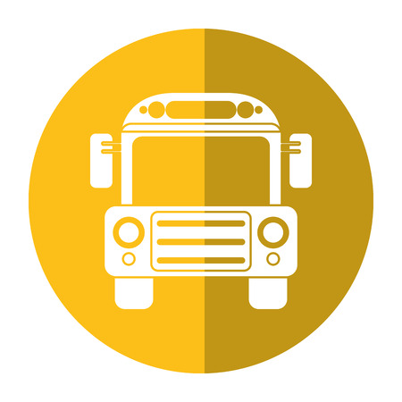 schoolbus: school bus transport design shadow vector illustration Illustration