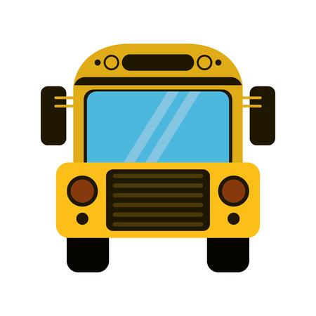 yellow schoolbus: school bus transport design vector illustration eps 10 Illustration