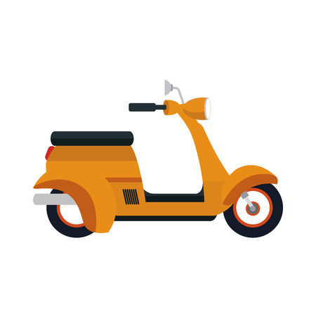 scooter motorcycle icon over white background. colorful desing. vector illustration