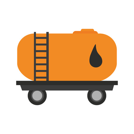 oil container truck icon over white background. colorful design. vector illustration Illustration