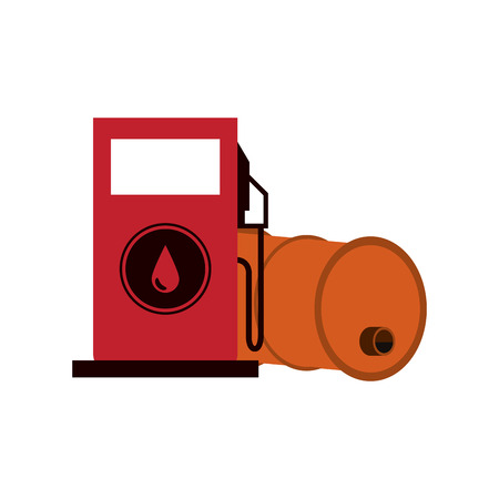 petrol pump icon over white background. colorful design. vector illustration