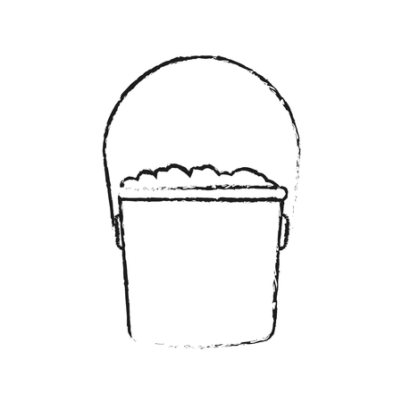 bucket with dirt icon image vector illustration design