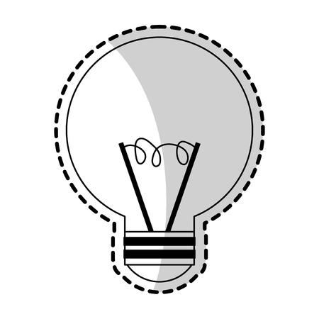 regular lightbulb icon image vector illustration design