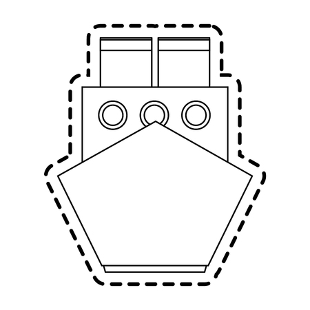frontview: ship frontview icon image vector illustration design
