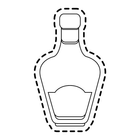 the footstool: liquor bottle icon image vector illustration design
