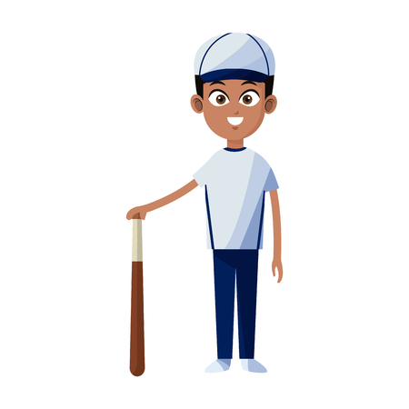 man baseball player icon image vector illustration design