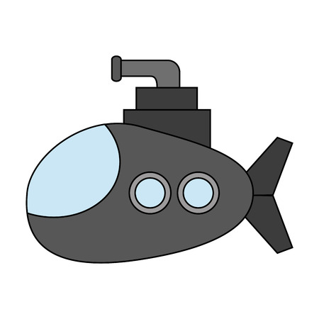Cartoon submarine icon image vector illustration design