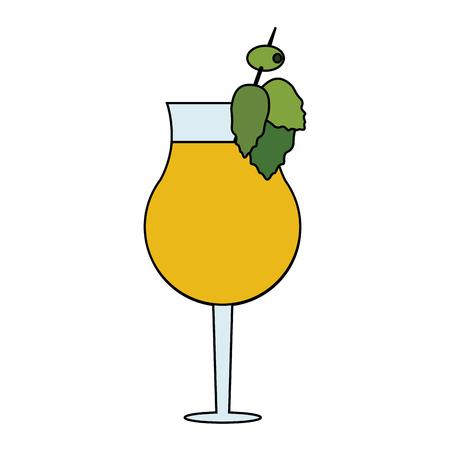 Garnished cocktail drink icon image vector illustration design Illustration