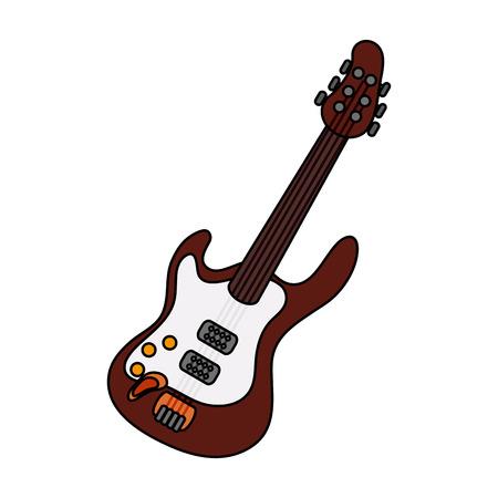 Electric guitar icon image vector illustration design Illustration