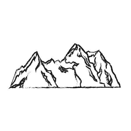 cresta de la montaña imagen del icono ilustración vectorial de diseño