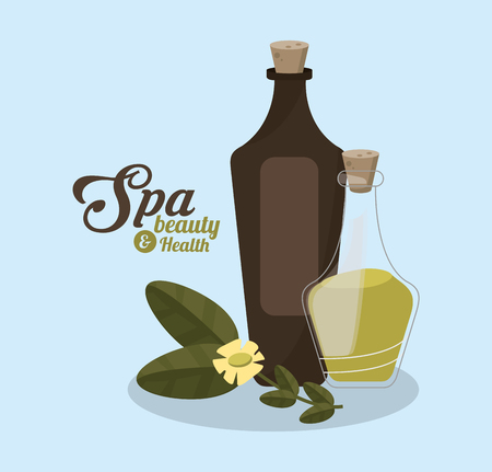 aromatic plants and spa beauty related icons image vector illustration design Illustration