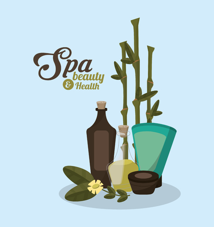 bamboo and spa beauty related icons image vector illustration design