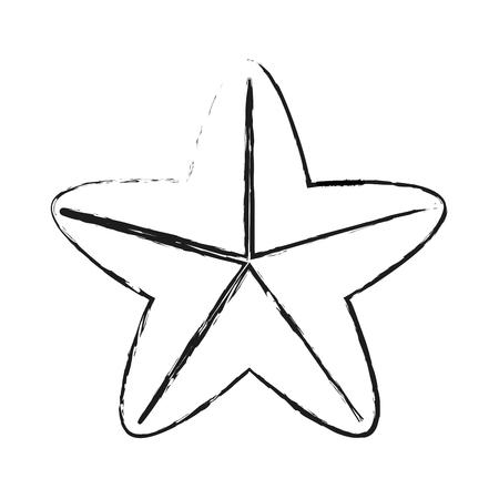 starfish or sea star icon image vector illustration design
