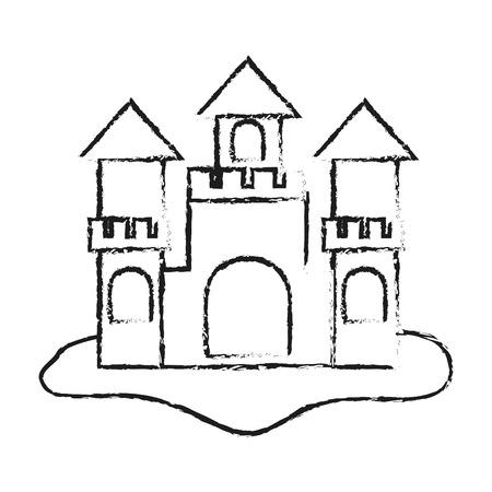 sand castle icon image vector illustration design 矢量图片