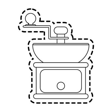 grinder: grinder coffee icon image vector illustration design