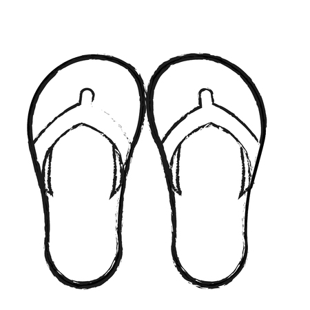 flops: flip flops icon image vector illustration design