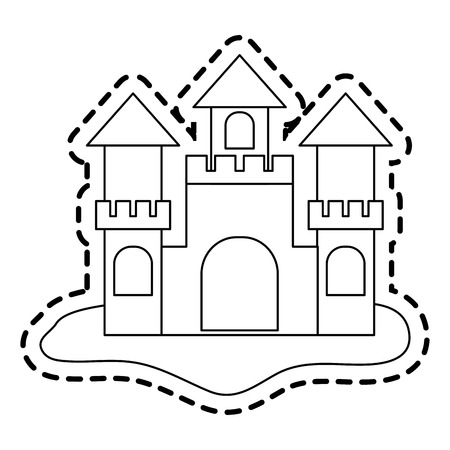 sand castle icon image vector illustration design