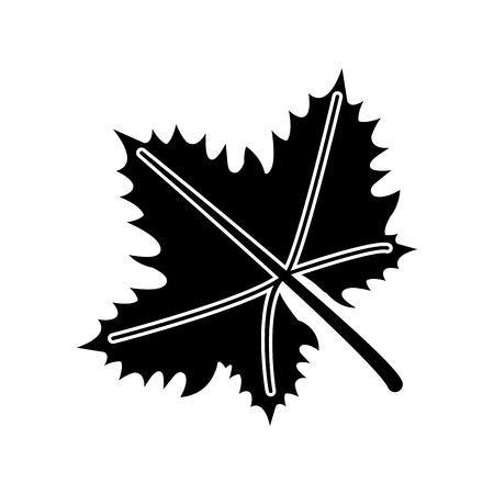 decanter: leave grape wine symbol pictogram vector illustration eps 10