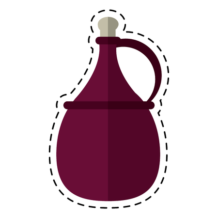 decanter: cartoon wine carafe cork icon vector illustration eps 10 Illustration
