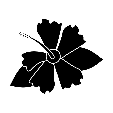 hibiscus flower exotic pictogram vector illustration eps 10