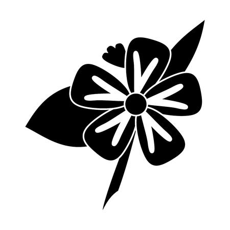 freesia flower tropical pictogram vector illustration eps 10