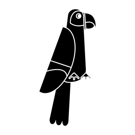 scarlet macaw tropical bird pictogram vector illustration eps 10 Ilustração
